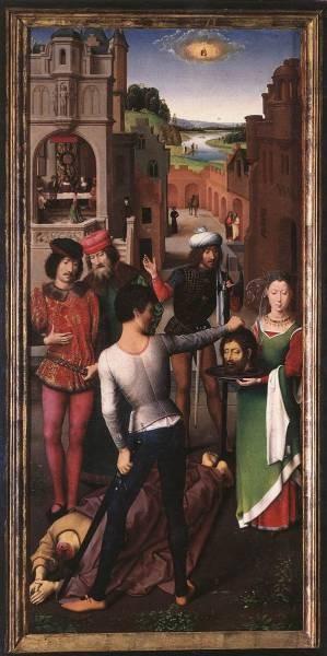 St John Altarpiece 1474 9 detail1 left wing